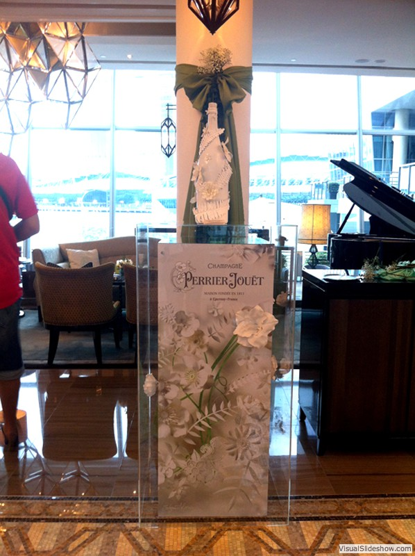Perrier Jouet<br/><br/>Location: Fullerton Bay Hotel<br/>Display props, Install