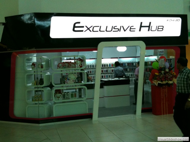 Exclusive Hub<br/><br/>Location: City Square<br/>Design, Fabricate, Install